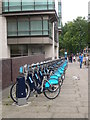 TQ2978 : Boris Bikes on Grosvenor Road by Eirian Evans