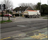 ST3091 : Hanson lorry, Malpas Road, Newport by Jaggery