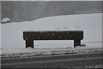 TQ5742 : Water trough in snow by N Chadwick