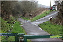 ST1289 : Aber Cycleway at rear of Coedcae Road by M J Roscoe