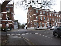 SX9292 : Southernhay West, Exeter and the entry to the Cathedral Close by David Smith