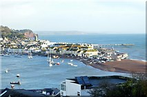 SX9372 : Teignmouth across the Teign Estuary by N Chadwick