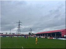 TQ6174 : Stonebridge Road Football Stadium, Northfleet by Chris Whippet