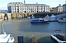 SX4653 : Royal William Victualling Yard - Dock Basin by N Chadwick