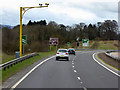 NN7903 : Speed Cameras on the A9 near Dunblane by David Dixon