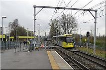 SJ8195 : Old Trafford Metrolink stop by John Sutton