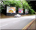 SO8554 : JCDecaux advertising boards, Midland Road, Worcester by Jaggery
