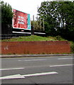 SO8555 : Primesight advertising board above Midland Road, Worcester by Jaggery