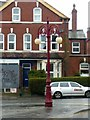 SE2835 : Former gas lamp outside Hyde Park Picture House by Alan Murray-Rust