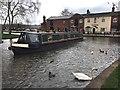 SK1414 : Narrowboat at Fradley Junction by Graham Hogg