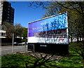 SS6594 : Shadows on a Sky Q advert, High Street, Swansea by Jaggery