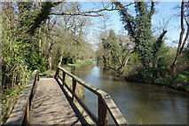SU9946 : Footbridge on the Towpath by Des Blenkinsopp