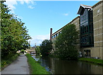 SE1438 : Towpath along the Leeds and Liverpool Canal at Saltaire by Mat Fascione