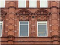 SE3033 : Coronation Buildings, Vicar Lane – detail by Alan Murray-Rust