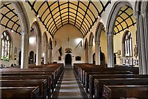 SX3384 : Launceston, St. Mary Magdalene's Church: The nave from the chancel screen by Michael Garlick