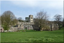 SE2768 : Fountains Abbey monastery by DS Pugh