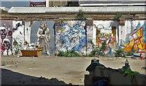 TQ3382 : Street art, Holywell Lane, Shoreditch by Neil Theasby