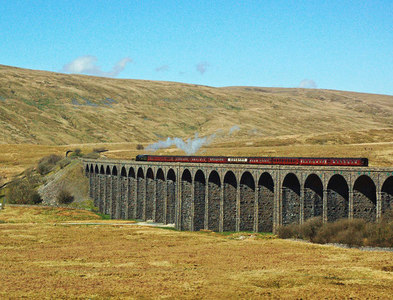 """SD7579 : """"British India Line"""" on Ribblehead Viaduct by Mary and Angus Hogg"""