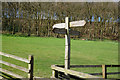 SE2716 : Finger post at Stony Cliffe Beck by Ian S
