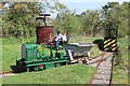 SU4924 : Twyford Pumping Station - narrow gauge railway by Chris Allen