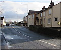 SJ3156 : Visibility mirror on the wall of a Wrexham Road house, Cefn-y-Bedd, Flintshire by Jaggery