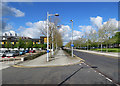 TL4258 : West Cambridge: cycle path on Charles Babbage Road by John Sutton