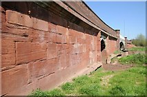 SO8352 : Abutments of Powick Bridge by Philip Halling