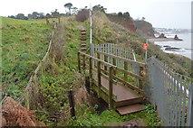 SX9675 : Footbridge, South West Coast Path by N Chadwick