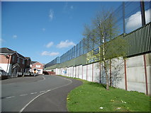 J3274 : Belfast, Peace Wall by Mike Faherty