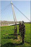 SO8453 : Cut out metal figures and Diglis Bridge by Philip Halling