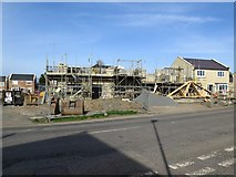 NZ1164 : Construction of Hedley Meadows, Holeyn Hall Road, Wylam by Andrew Curtis