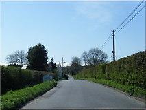 ST0368 : Lane at Llancadle village boundary by Colin Pyle
