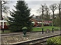 ST8043 : Siding and engine shed at Longleat Central by Jonathan Hutchins