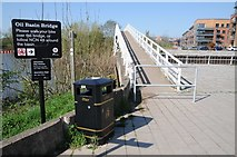 SO8453 : Footbridge over the old Oil Basin by Philip Halling
