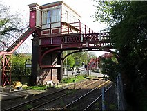 NZ1164 : Signal Box at Wylam Railway Station by Andrew Curtis