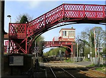NZ1164 : Level crossing at Wylam Station by Andrew Curtis