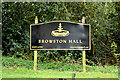 TG4901 : Browston Hall sign by Geographer