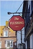 TQ9220 : The former Flushing Inn (2) - sign, 4 Market Street, Rye, East Sussex by P L Chadwick
