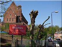 TQ4077 : St George's church, made more visible by Stephen Craven