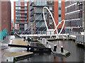 SP0687 : Foot bridge by Farmer's Bridge lock No. 6 by Chris Allen