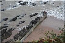 SX9676 : Breakwater, Coryton's Cove by N Chadwick