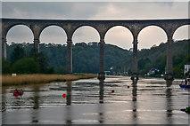 SX4368 : Calstock : River Tamar & Calstock Viaduct by Lewis Clarke