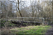 TQ2066 : Footbridge, Hogsmill River by N Chadwick