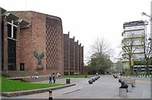 SP3379 : Coventry Cathedral & The Old SU building by Glyn Baker