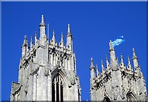TA0339 : Tour  de  Yorkshire  flag  proudly  flying  above  Beverley  Minster by Martin Dawes