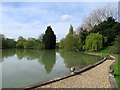 TL5876 : The lake at Barcham House by John Sutton