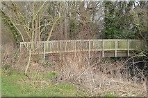 TQ2067 : Footbridge, Hogsmill River by N Chadwick