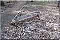 TM2241 : Snowdrop Glade sign at Seven Hills Crematorium by Adrian Cable
