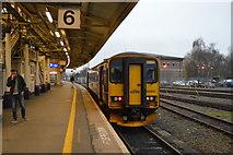 SX9193 : GWR train, platform 6, Exeter St Davids Station by N Chadwick
