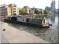 "TQ3183 : ""Widgeon"" narrowboat by City Road Basin by David Hawgood"
